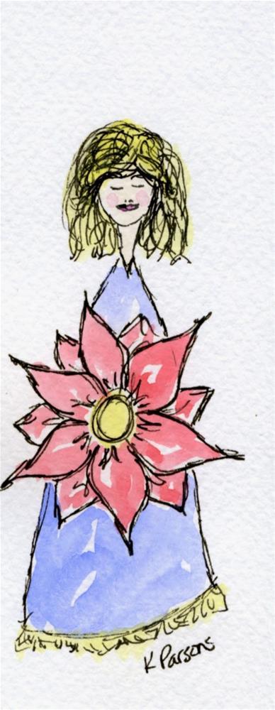 """The Forgiveness of Curls"" original fine art by Kali Parsons"