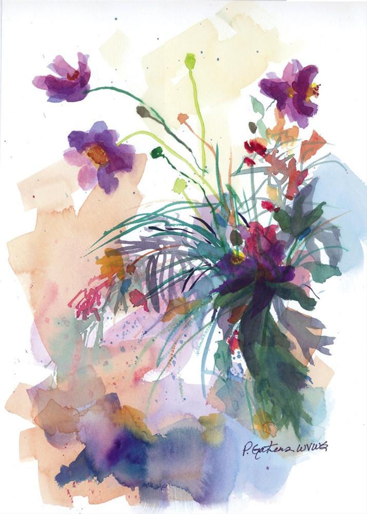 Wild Weeds original fine art by Pamela Gatens
