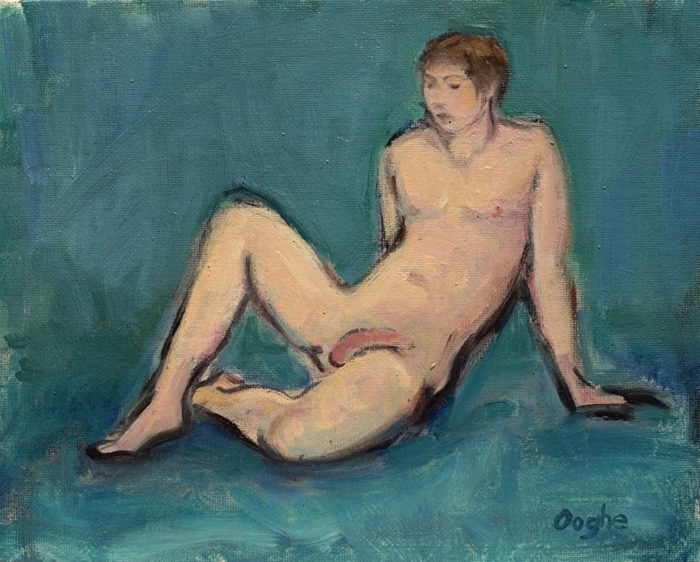 """Male Nude"" original fine art by Angela Ooghe"
