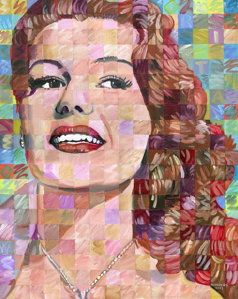 """Rita Hayworth"" original fine art by Randal Huiskens"