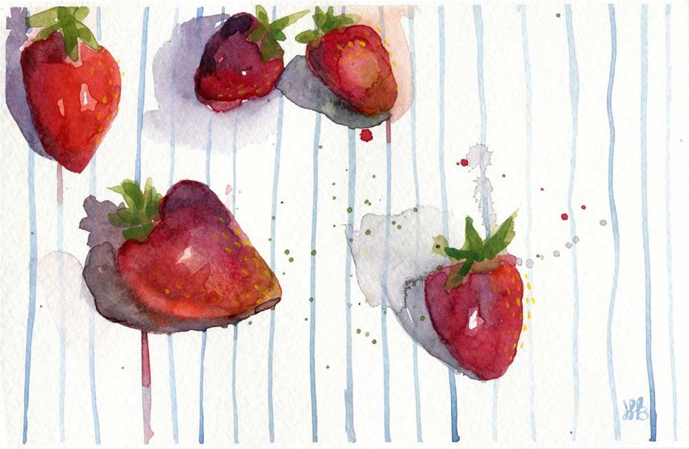 """Strawberries and Sunshine"" original fine art by Heather Bennett"