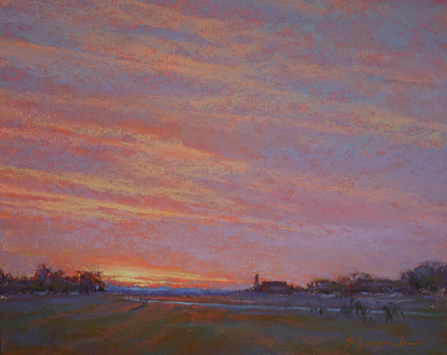 """Midwestern Sunset"" original fine art by Barbara Jaenicke"