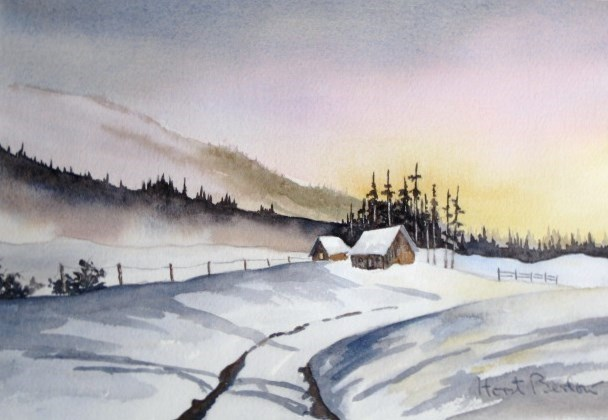 """Winter Road"" original fine art by Horst Berlow"