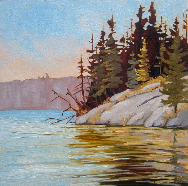 """Golden Reflection, Lynx Lake"" original fine art by Nicki Ault"