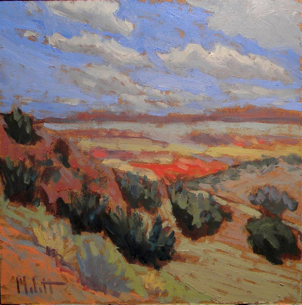 """Near the Painted Desert Southwest Series 3 of 3 Oil Impressionism"" original fine art by Heidi Malott"