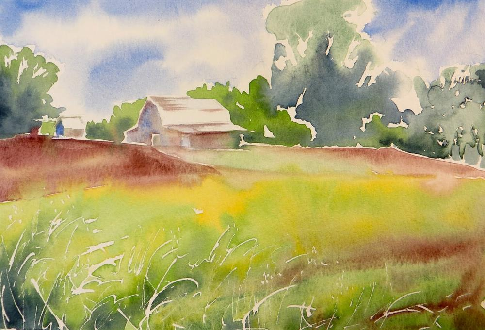 """Morning Farm in Rogersville"" original fine art by Tammie Dickerson"