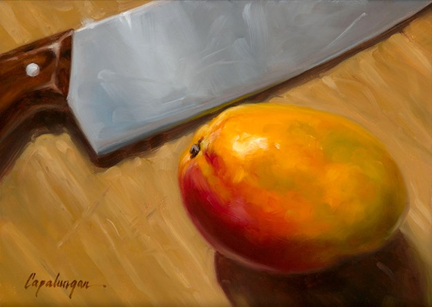 """Nervous Mango"" original fine art by David Capalungan"
