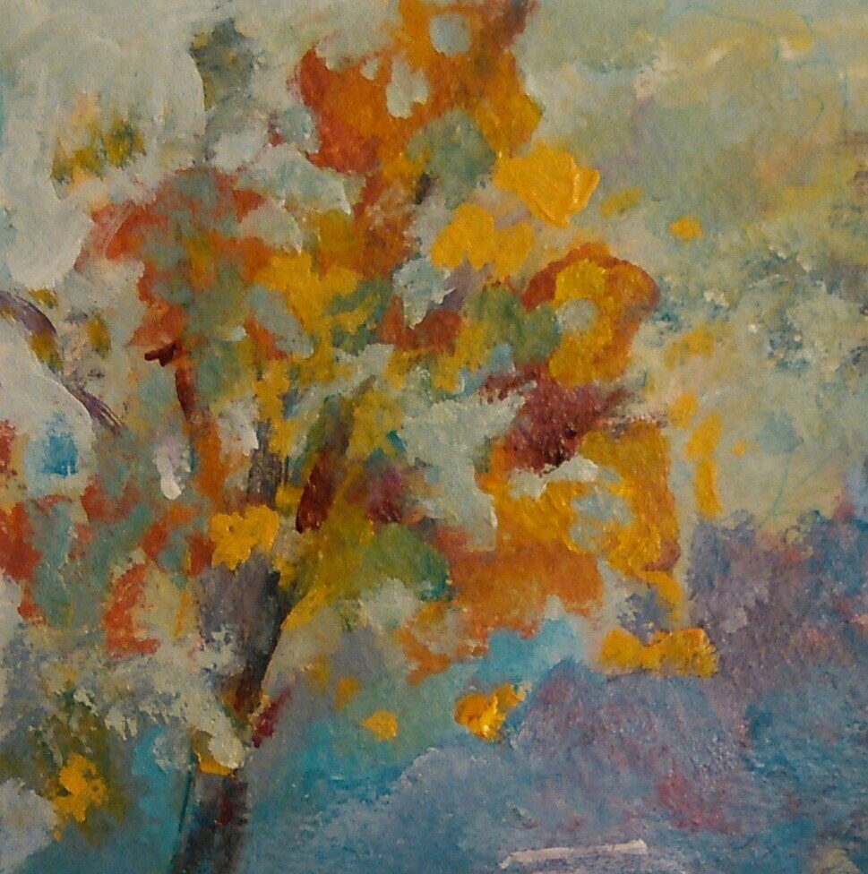 """Autumn"" original fine art by Ann Rudd"
