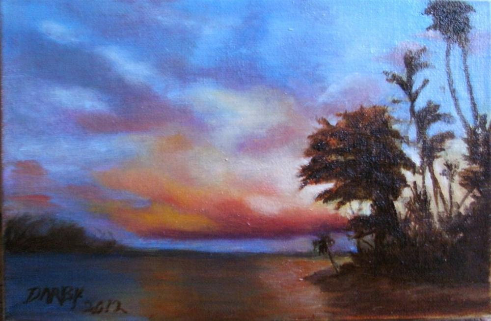 """Fiji Sunset"" original fine art by Lynn Darby"