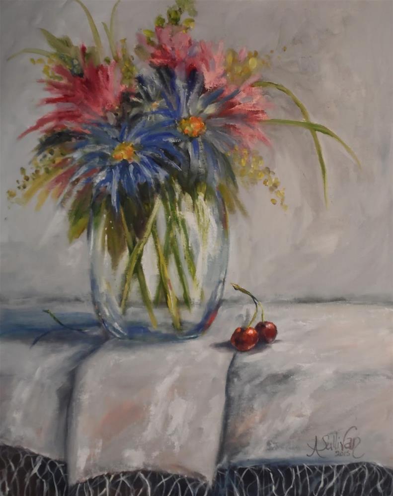"""One Eaten still life painting by Alabama Artist Angela Sullivan"" original fine art by Angela Sullivan"