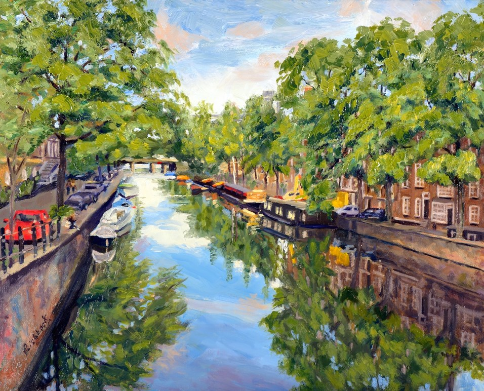 """Reflections of Amsterdam"" original fine art by Daniel Fishback"