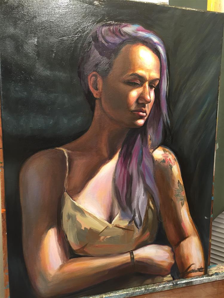 """""""Portrait of Erin"""" original fine art by Eduardo Posadas"""
