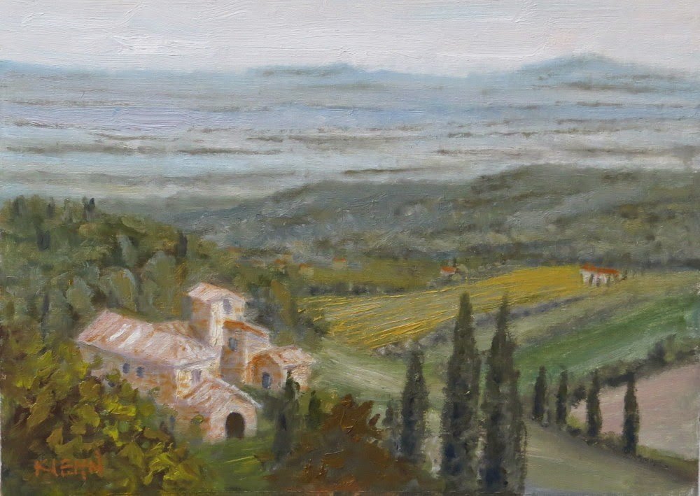 """Tuscan Mist"" original fine art by Richard Kiehn"