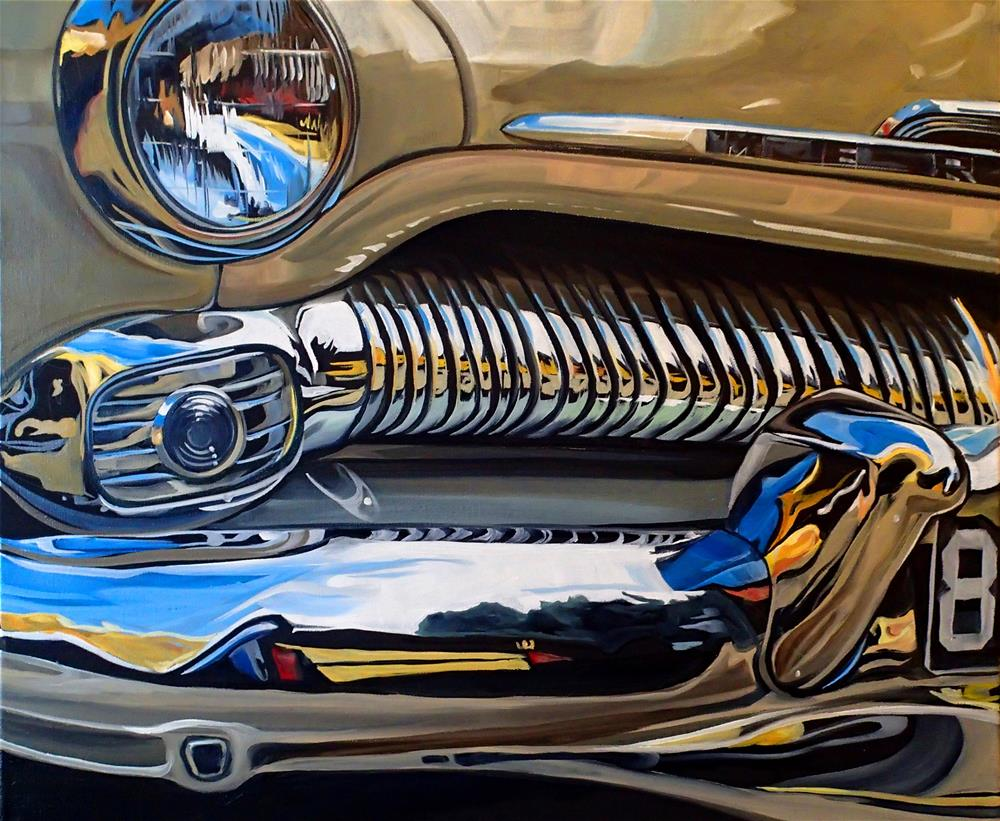 """1950 Mercury"" original fine art by Lauren Kuhn"