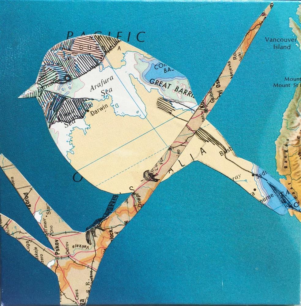 """Chickadee #4"" original fine art by Diane Paroda"