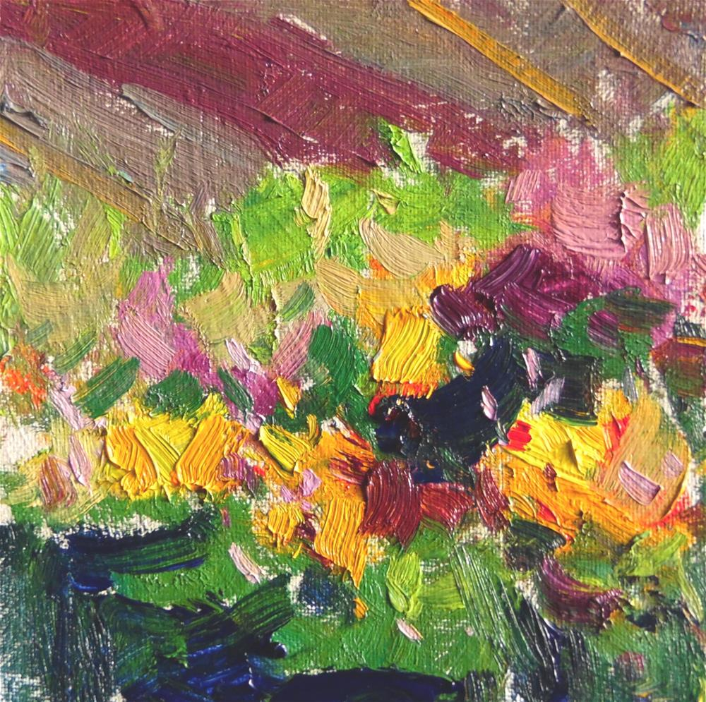 """At The Flower Market II "" original fine art by Michael Clark"