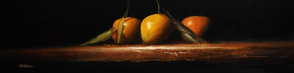 """Three Clementines"" original fine art by Neil Carroll"