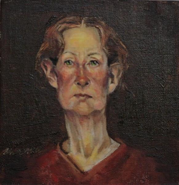 """The Red Head"" original fine art by Kirk Miller"