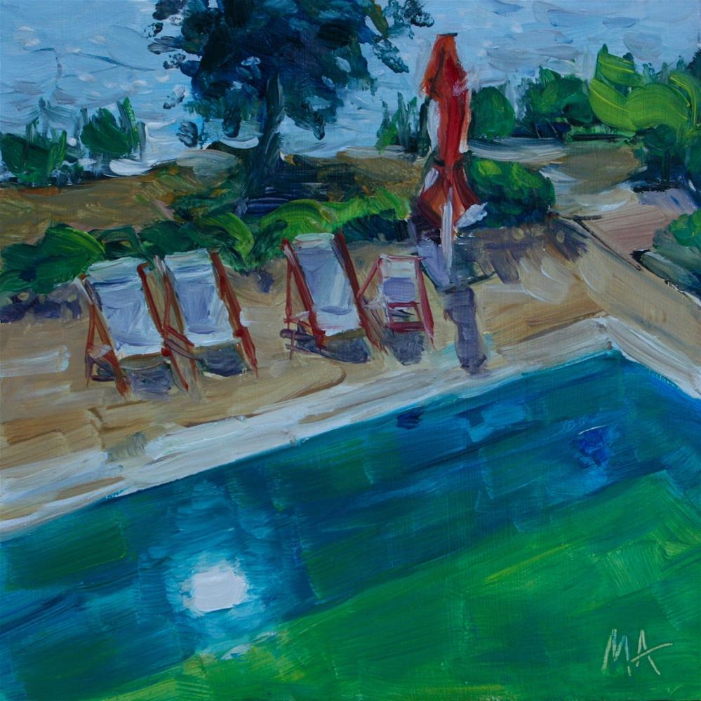 """Green Water"" original fine art by Aniko Makay"