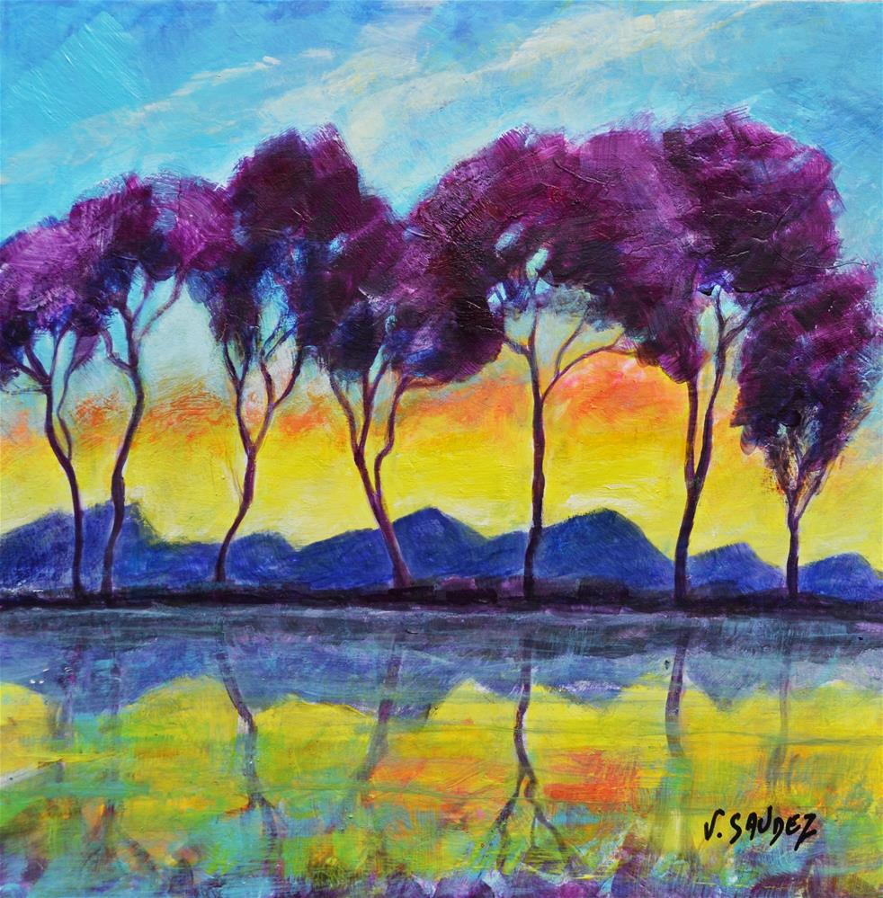 """Radiant morning 3 "" original fine art by Véronique Saudez"