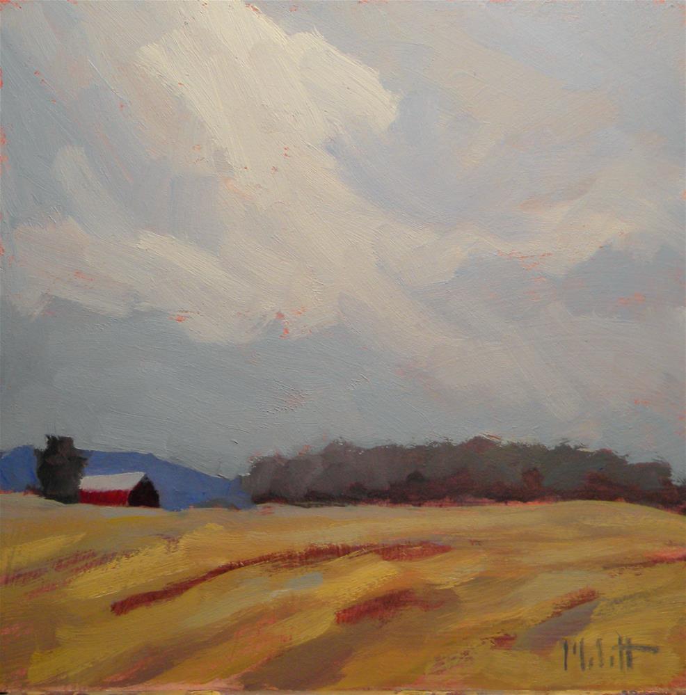 """""""Wheat Fields Rural Landscape"""" original fine art by Heidi Malott"""