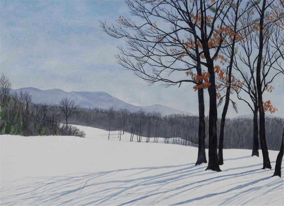 """Fairfield Snow IV"" original fine art by Greg Arens"
