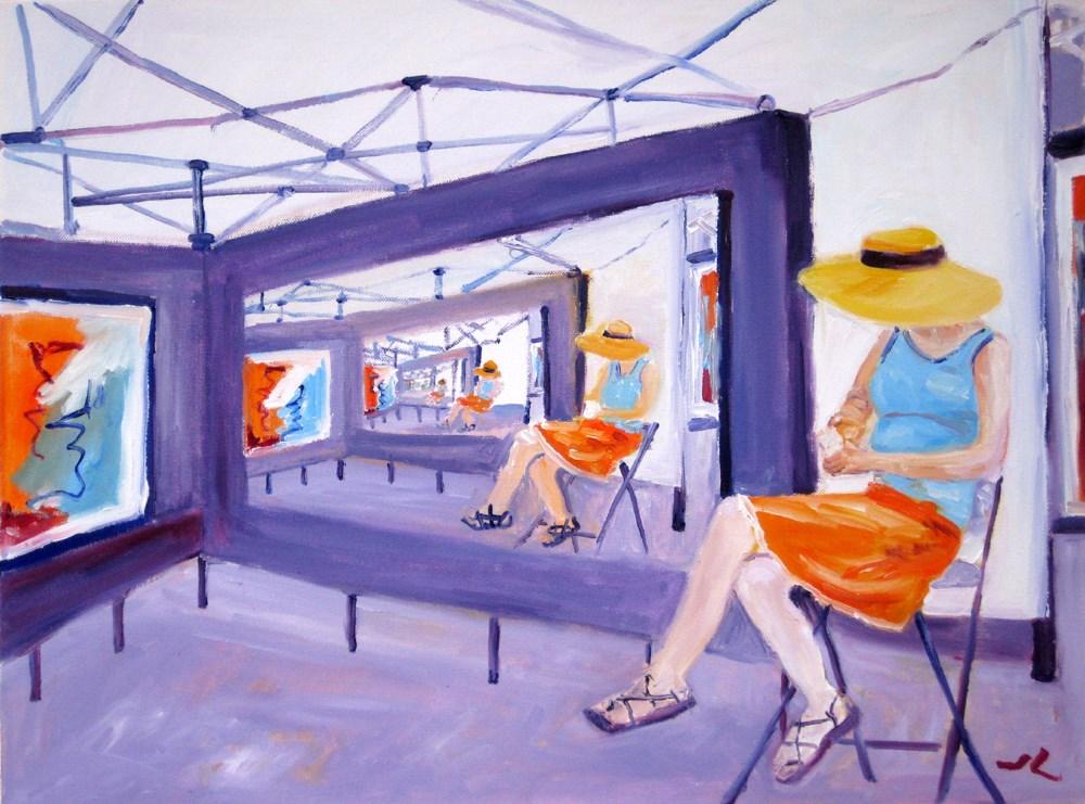 """""""Art Show"""" original fine art by Julia Lu"""