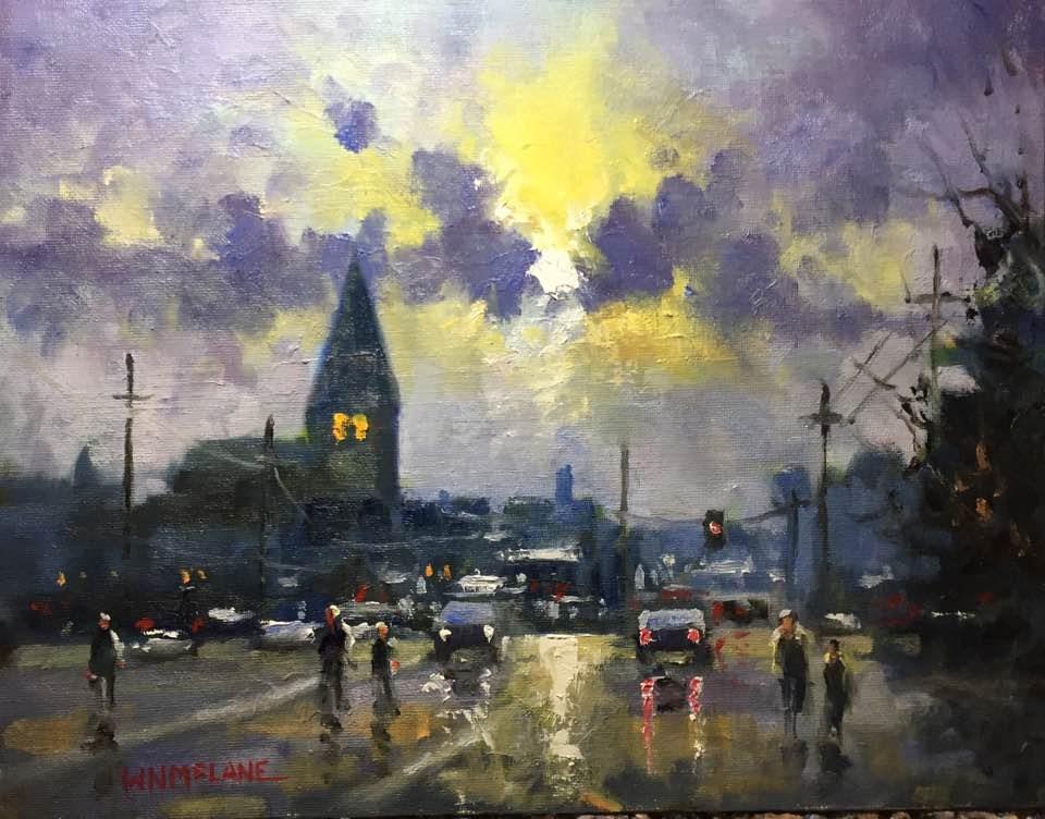 """City Series #2"" original fine art by William  McLane"