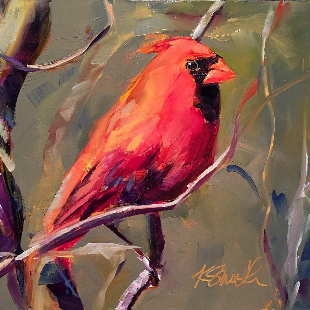 """cardinal"" original fine art by Kim Smith"