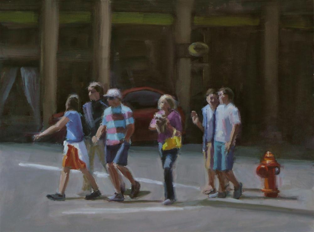 """Along For The Ride"" original fine art by Dana Cooper"