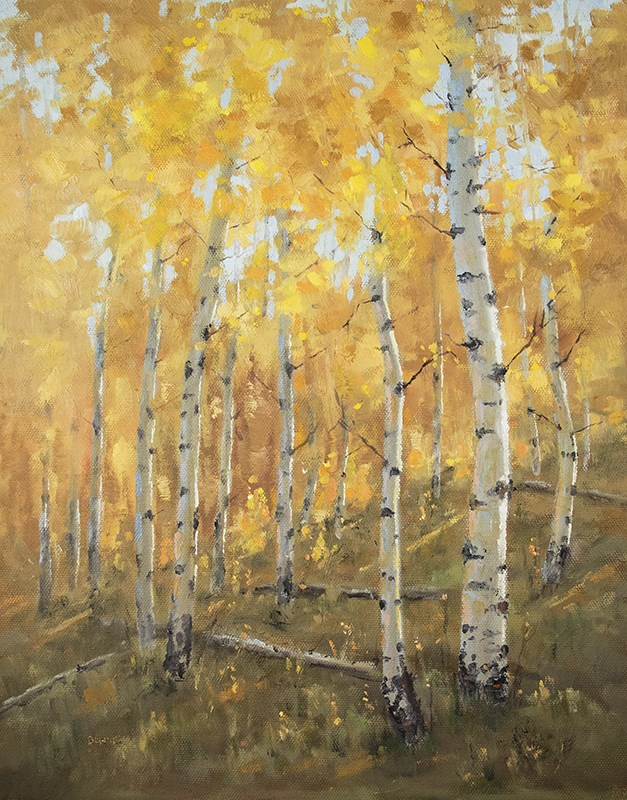 """The Road to Bear Lake"" original fine art by Bonnie Bowne"