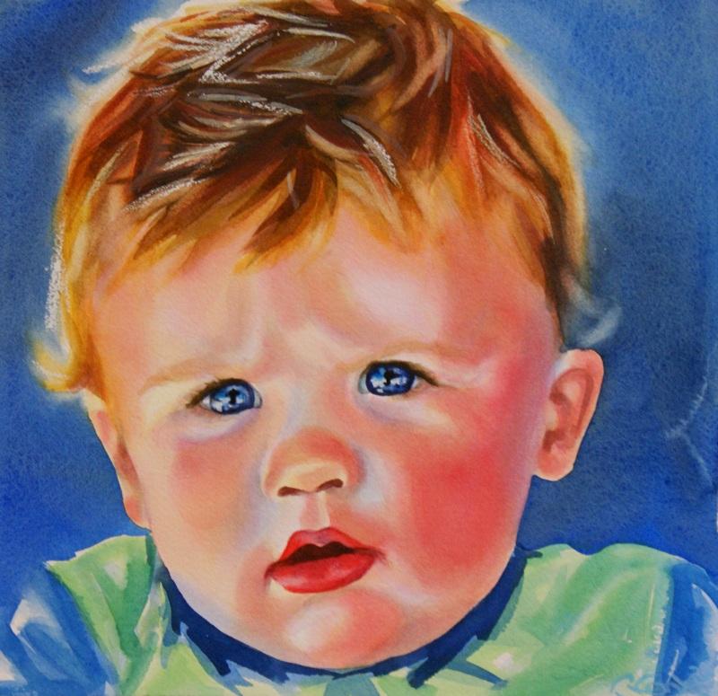"""Perplexed"" original fine art by Crystal  Cook"