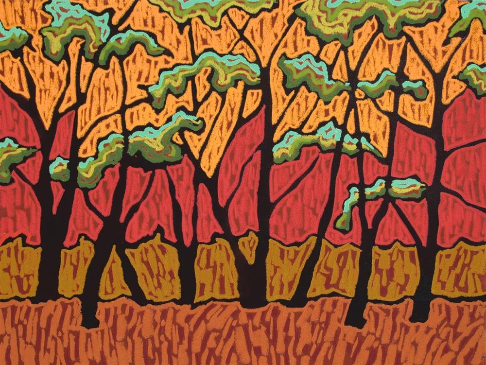 """""""Spring Canopy"""" original fine art by Monique Straub"""