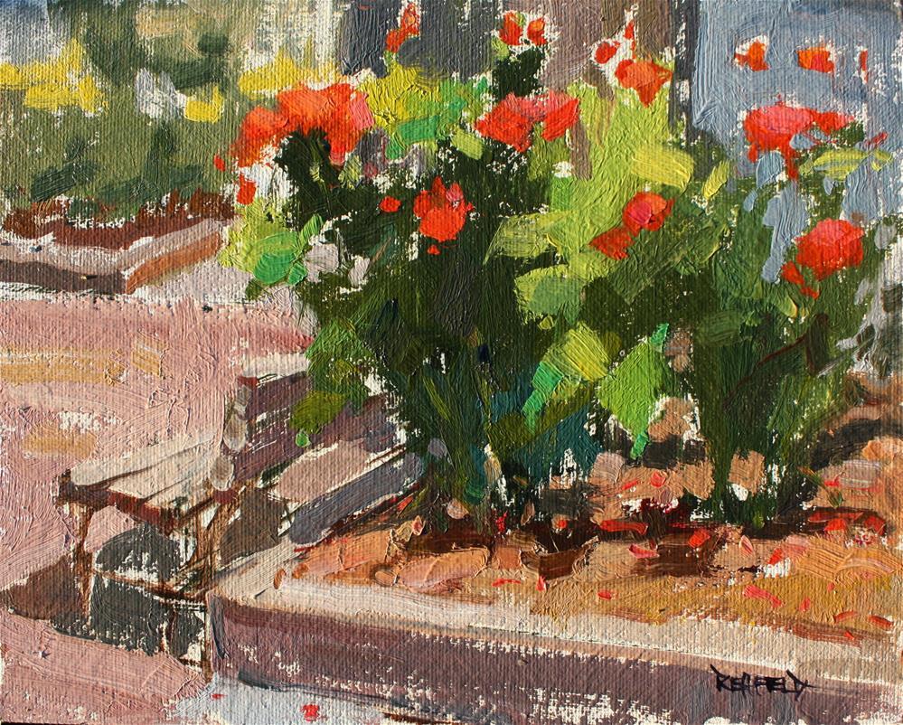 """""""PAM Rose Garden"""" original fine art by Cathleen Rehfeld"""