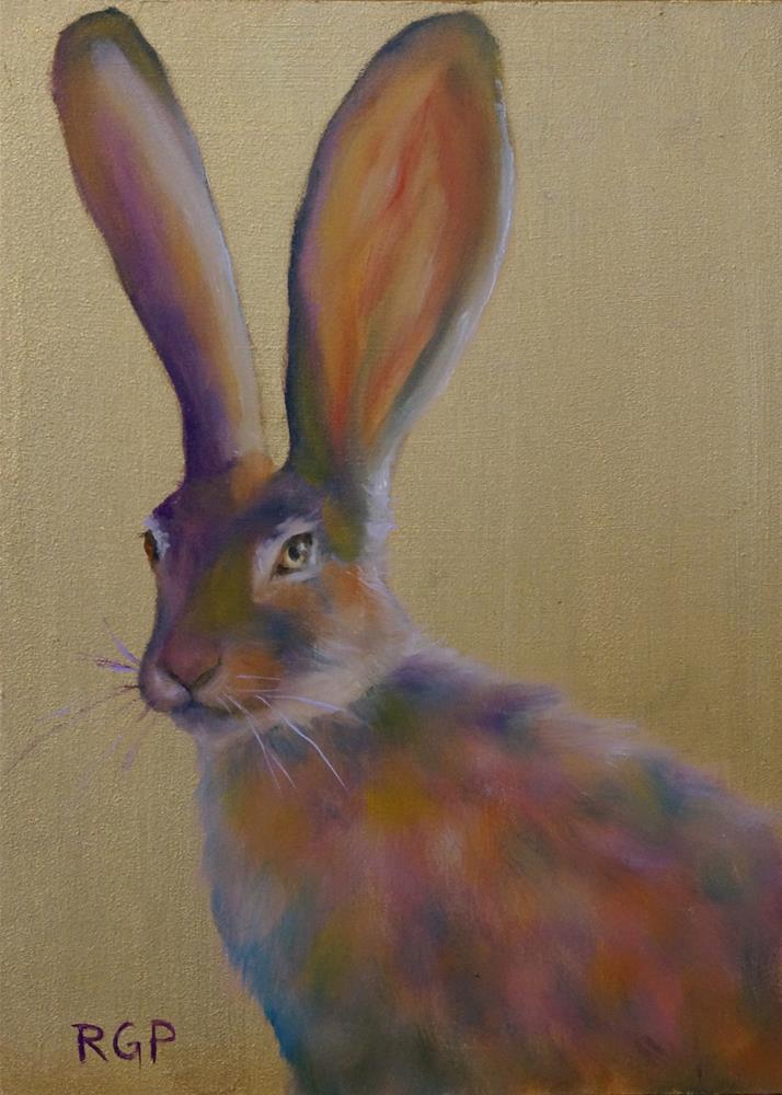 """Easter Hare"" original fine art by Rhea  Groepper Pettit"