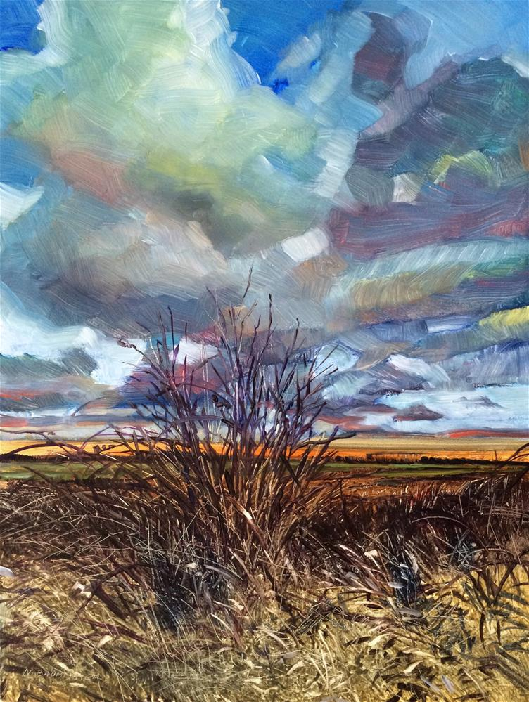 """""""2016/18  Delta Brush"""" original fine art by Nicoletta Baumeister"""