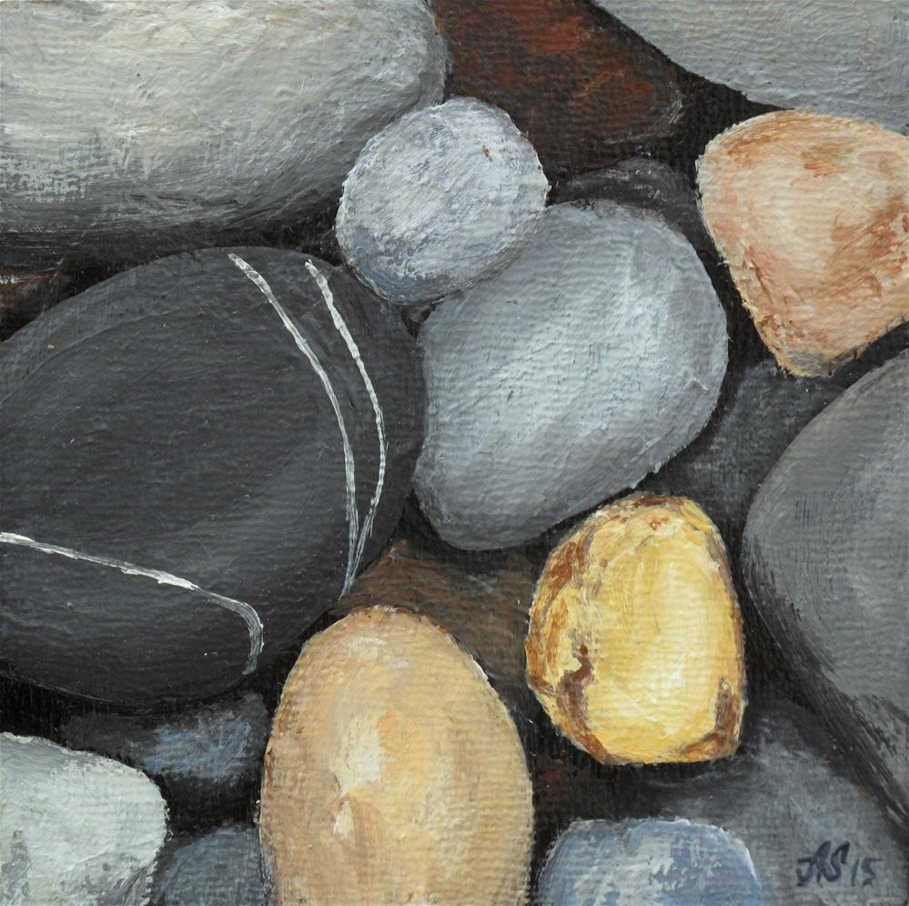 """Stones II"" original fine art by Anna Starkova"