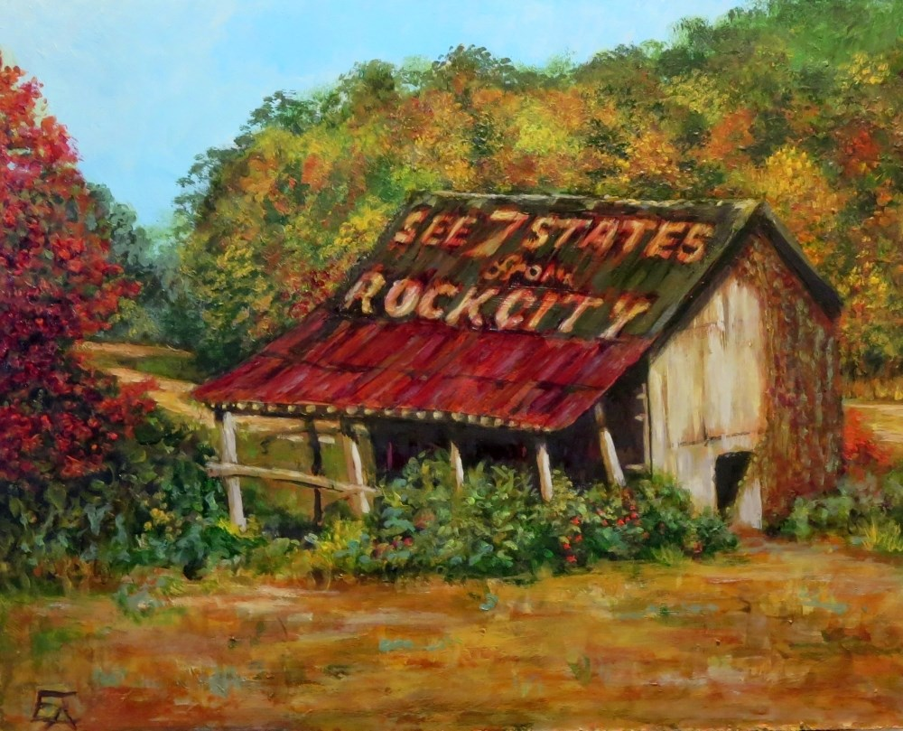 """Rock City: Homage to Clark Byers"" original fine art by Elizabeth Elgin"