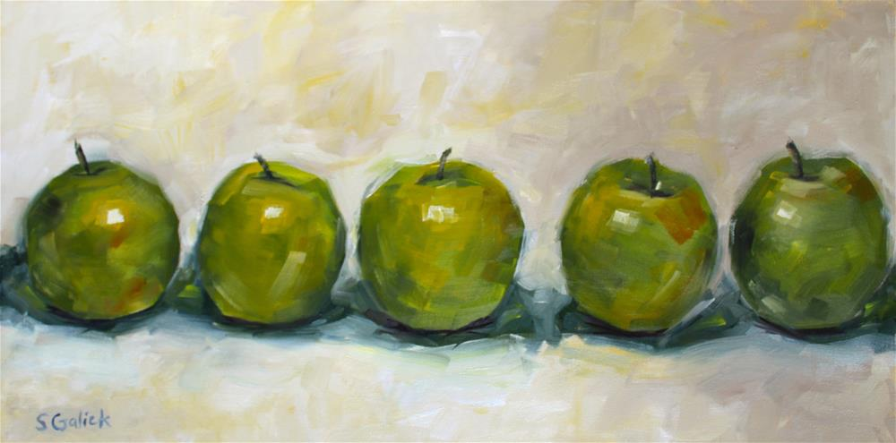 """Lined Up Grannies"" original fine art by Susan Galick"