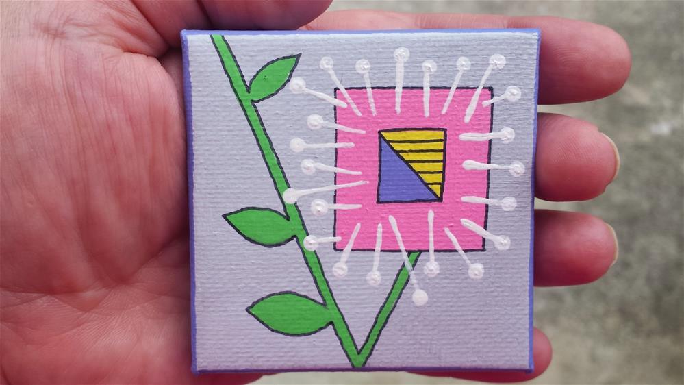 """Geometric Bloom"" original fine art by Jodi Workman"