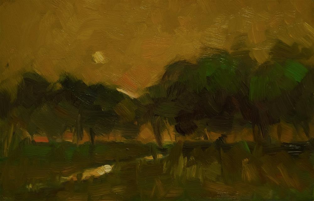 """Sun in Yellow Sky"" original fine art by Andre Pallat"