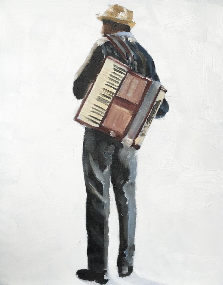 """The Busker"" original fine art by James Coates"