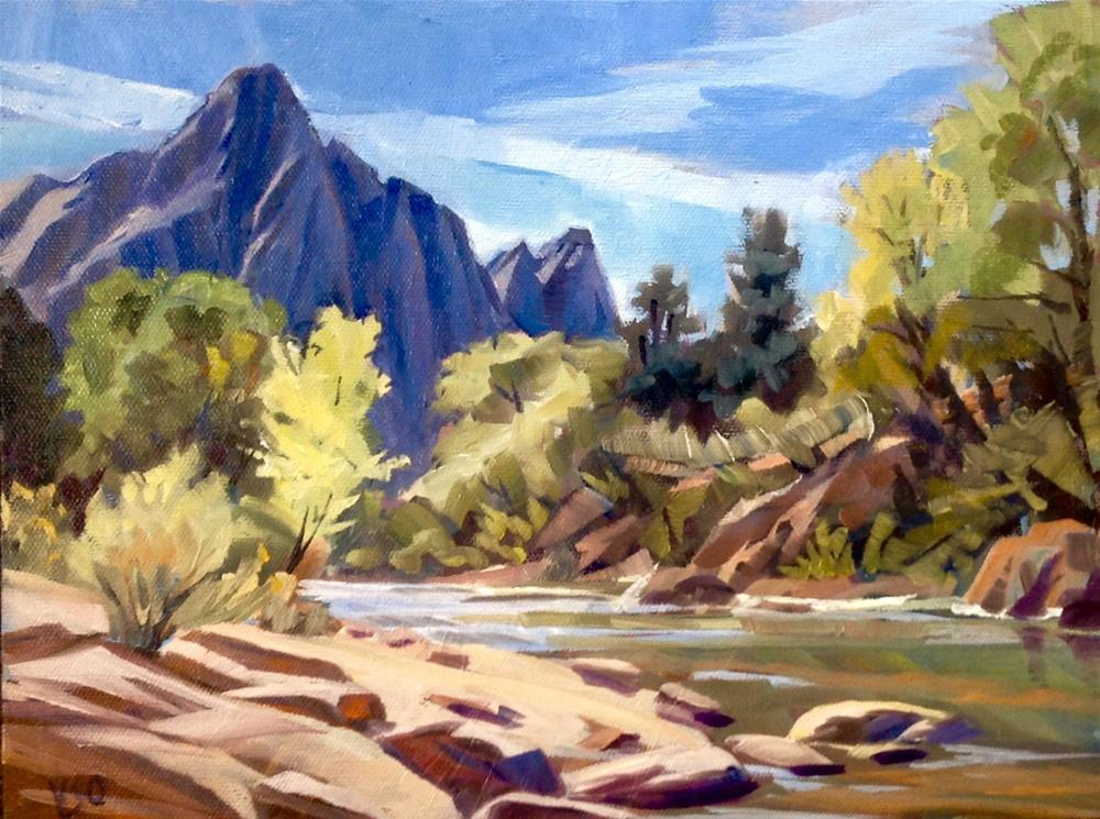 """The Watchman (Zion)"" original fine art by Valerie Orlemann"