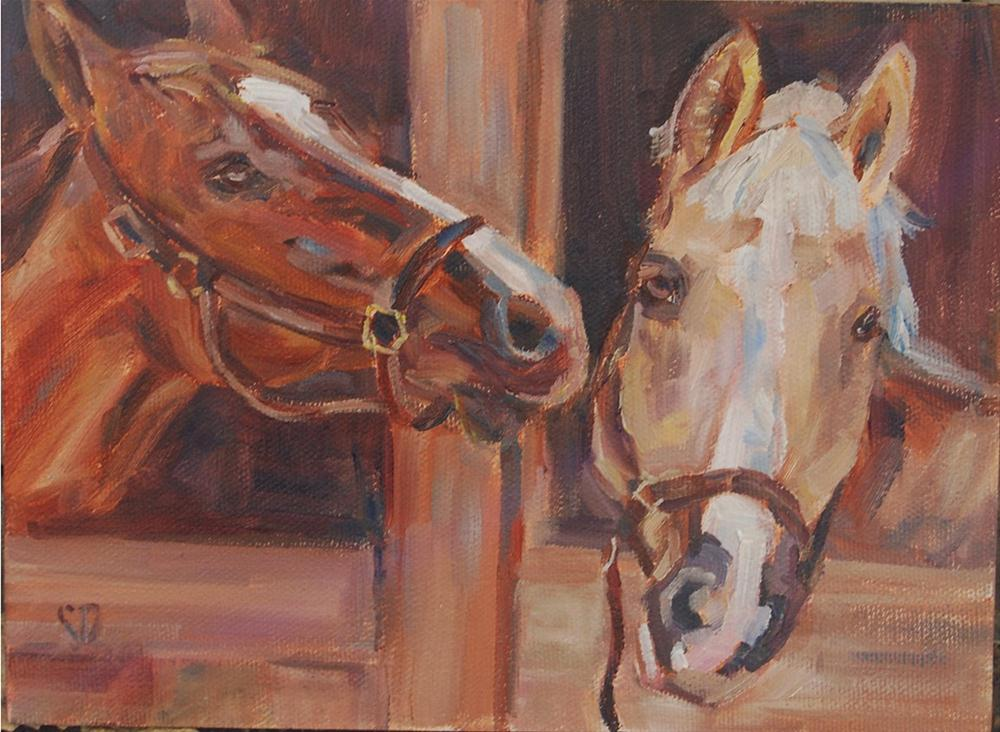 """Hi there neigh-bor"" original fine art by Carol DeMumbrum"