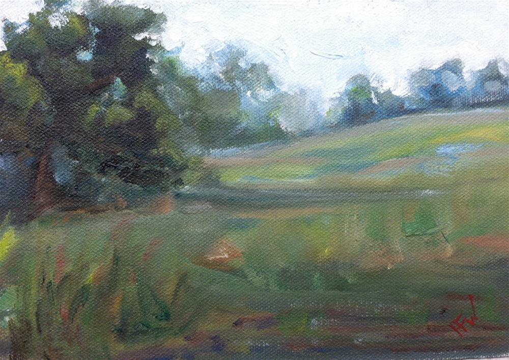 """The Back Pasture"" original fine art by H.F. Wallen"