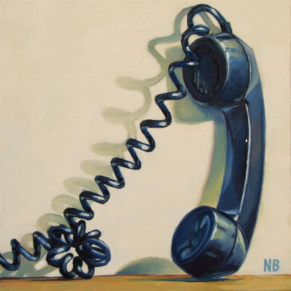 """On Hold"" original fine art by Nora Bergman"
