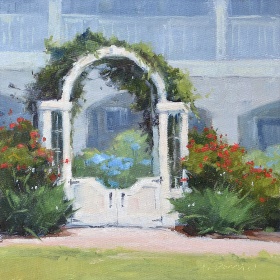 """Arbor Welcome - Georgia Coast"" original fine art by Laurel Daniel"