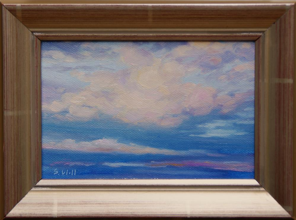 """Clouds I  4x6"" original fine art by Sharon Will"