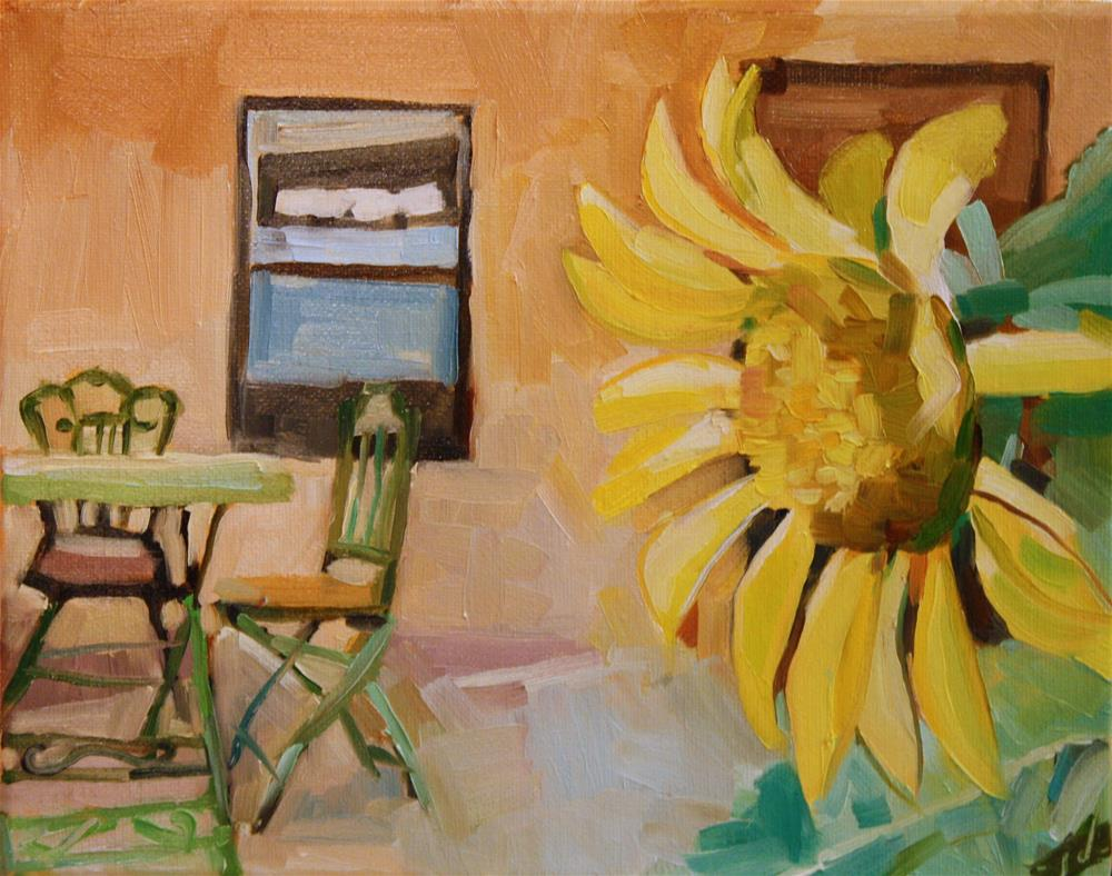 """Sunflower Spot"" original fine art by Jessie Dodington"