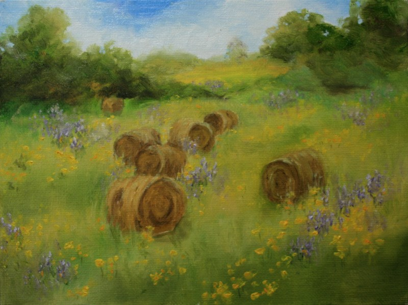 """Summer Pasture"" original fine art by Jean Nelson"